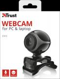 Camera WEB Trust Exis Webcam - black/silver - imaginea 5