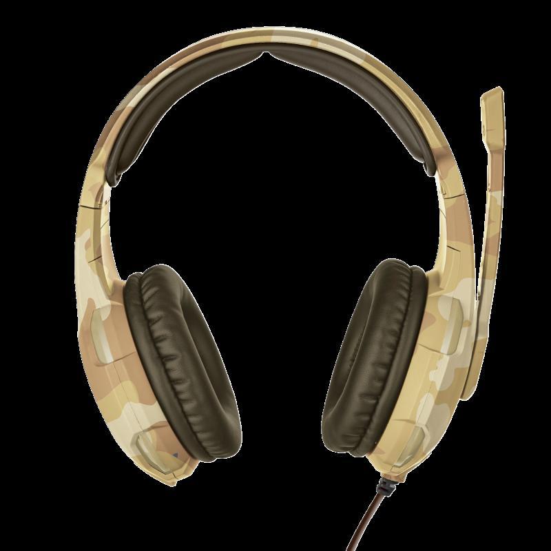 Casti cu microfon Trust GXT 310D Radius Gaming Headset, desert camo - imaginea 4