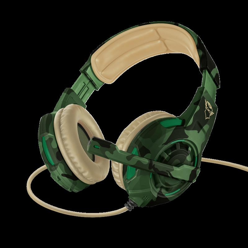 Casti cu microfon Trust GXT 310C Radius Gaming Headset, jungle camo - imaginea 2