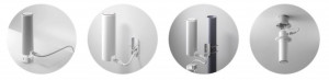 Ubiquiti UniFi Acess Point UAP-FLEX HD, 4x4 MU-MIMO Technology with 1.733 Gbps, Weatherproof for Indoor / Outdoor Installations, Flexible Mounting Options for Ceiling, Pole, Tabletop, or Wall, 1 x  10/100/1000 Ethernet Port, Max Power Consumption 10.5W. 2.4 GHz-300 Mbps, 5 GHz - 1733 Mbps.
