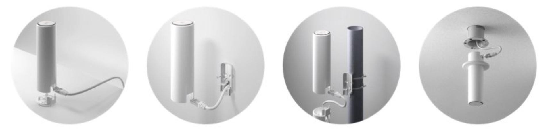 Ubiquiti UniFi Acess Point UAP-FLEX HD, 4x4 MU-MIMO Technology with 1.733 Gbps, Weatherproof for Indoor / Outdoor Installations, Flexible Mounting Options for Ceiling, Pole, Tabletop, or Wall, 1 x  10/100/1000 Ethernet Port, Max Power Consumption 10.5W. 2.4 GHz-300 Mbps, 5 GHz - 1733 Mbps. - imaginea 1