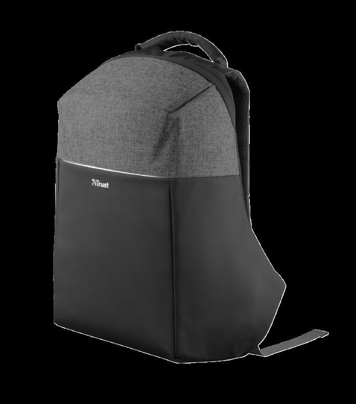 """Rucsac Trust Nox Anti-theft Backpack 16"""" Black - imaginea 1"""
