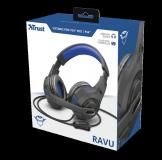 Casti cu microfon Trust GXT 307B Ravu Gaming PS4, negru - imaginea 9
