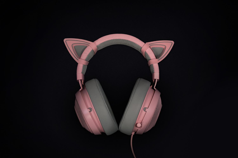 Kitty Ears for Razer Kraken Quartz Ed. - imaginea 2