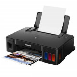 Imprimanta inkjet color Canon Pixma G1411, dimensiune A4, viteza 8,8ipm alb-negru, 5ipm color, rezolutie printare 4800x1200 dpi, imprimare fara margini, alimentare hartie 100 coli, interfata: USB Hi-Speed, consumabile: GI-490 (PGBK), GI-490 (C), GI-490 (M), GI-490 (Y). - imaginea 2