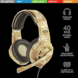 Casti cu microfon Trust GXT 310D Radius Gaming Headset, desert camo - imaginea 7