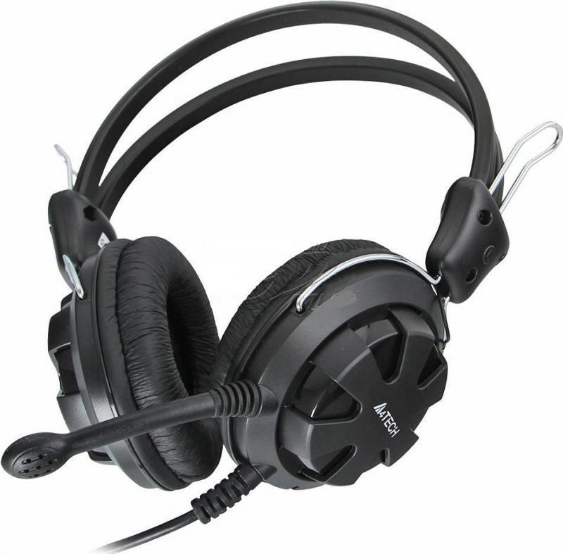 Casti cu microfon A4tech HS-28-3, negru - imaginea 1