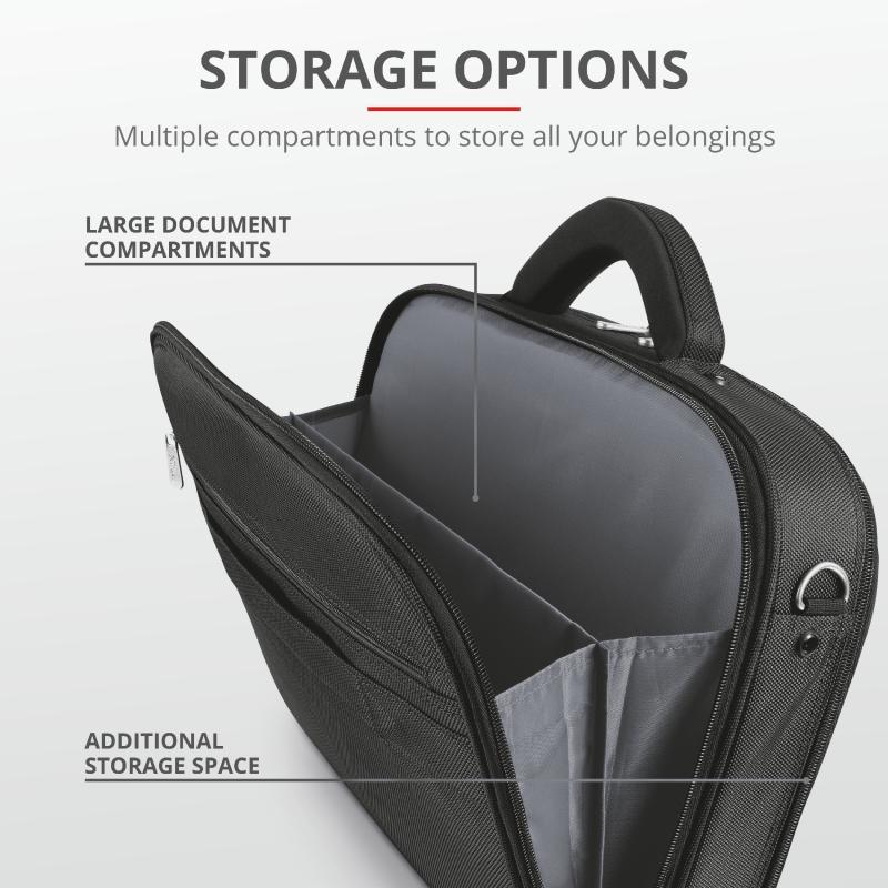 "Geanta Trust Sydney Carry Bag for 16"" laptops - black - imaginea 6"