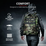 """Rucsac Trust GXT 1250G Hunter Gaming Backpack for 17.3"""" laptops - green camo - imaginea 12"""