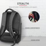 """Rucsac Trust Nox Anti-theft Backpack 16"""" Black - imaginea 5"""