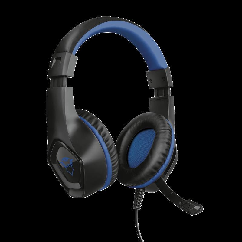 Casti cu microfon Trust GXT 404B Rana Gaming PS4, negru - imaginea 1