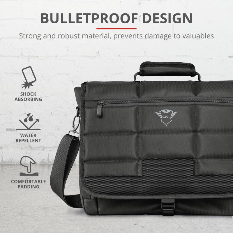 "Geanta GXT1270 Bullet Messenger Bag 15.6"" Black - imaginea 4"