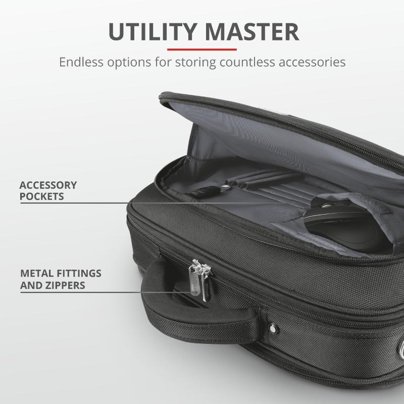 "Geanta Trust Sydney Carry Bag for 16"" laptops - black - imaginea 5"