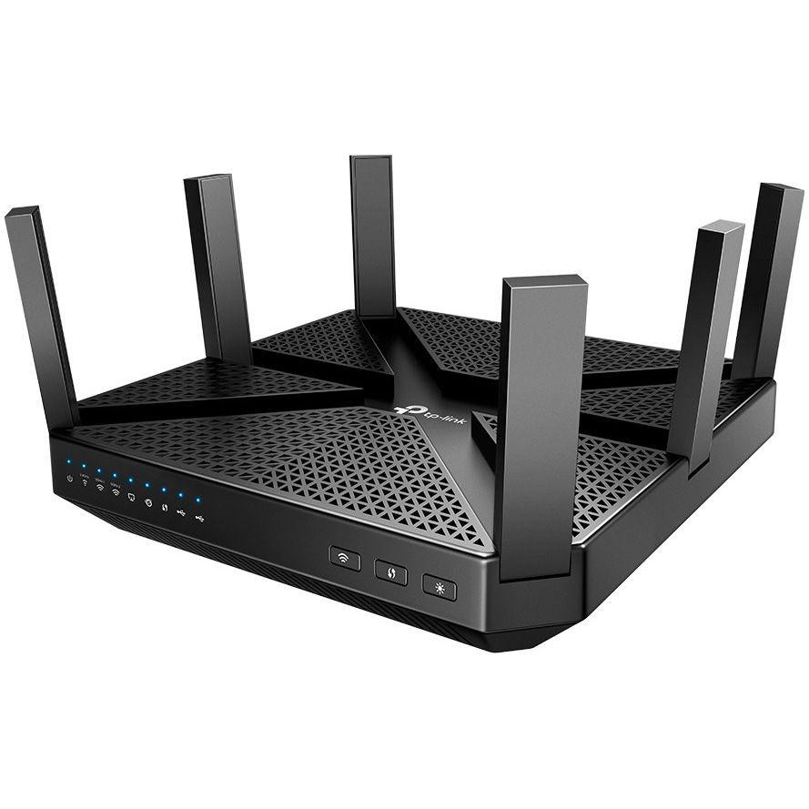 TP-Link AC4000 Wireless Tri-Band MU-MIMO Gigabit Router, ARCHER C4000,4* 10/100/1000Mbps LAN Ports, 1*10/100/1000Mbps WAN Port, 6 high- performance antennas, procesor: 1.8 GHz CPU, memorie 512 MB, Standarde și Protocoale: 802.11a/b/g/n/ac, 802.3ab. - imaginea 1