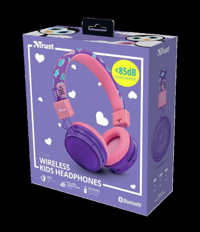 Casti cu microfon Trust Comi, Wireless Kids, purple - imaginea 11