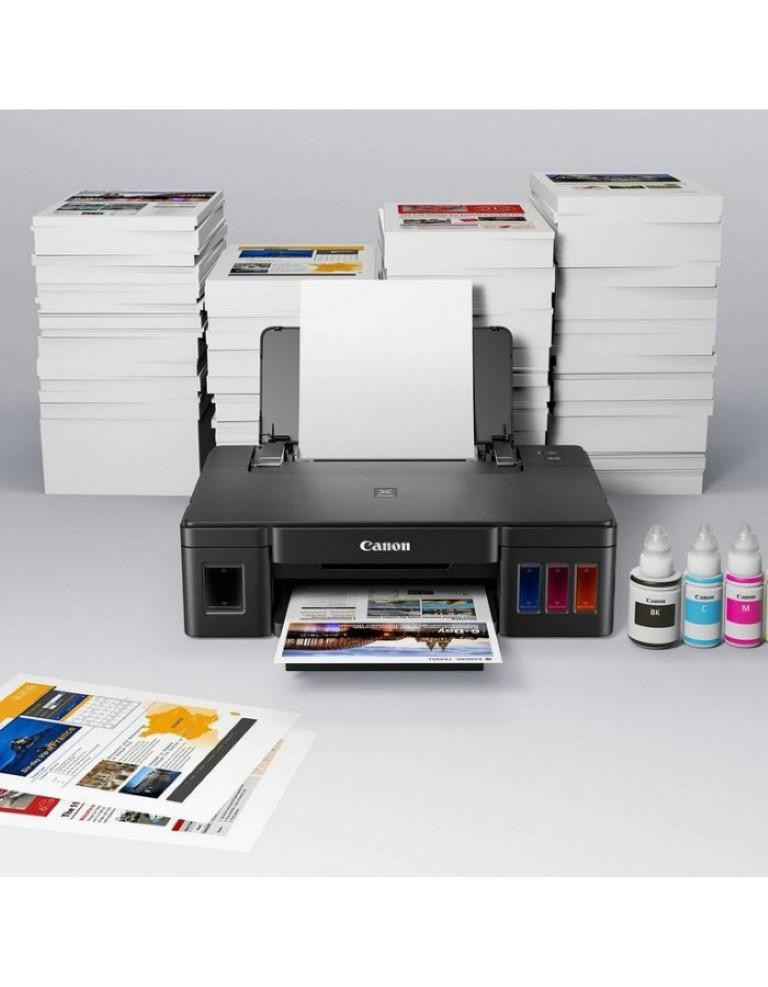 Imprimanta inkjet color Canon Pixma G1411, dimensiune A4, viteza 8,8ipm alb-negru, 5ipm color, rezolutie printare 4800x1200 dpi, imprimare fara margini, alimentare hartie 100 coli, interfata: USB Hi-Speed, consumabile: GI-490 (PGBK), GI-490 (C), GI-490 (M), GI-490 (Y). - imaginea 3
