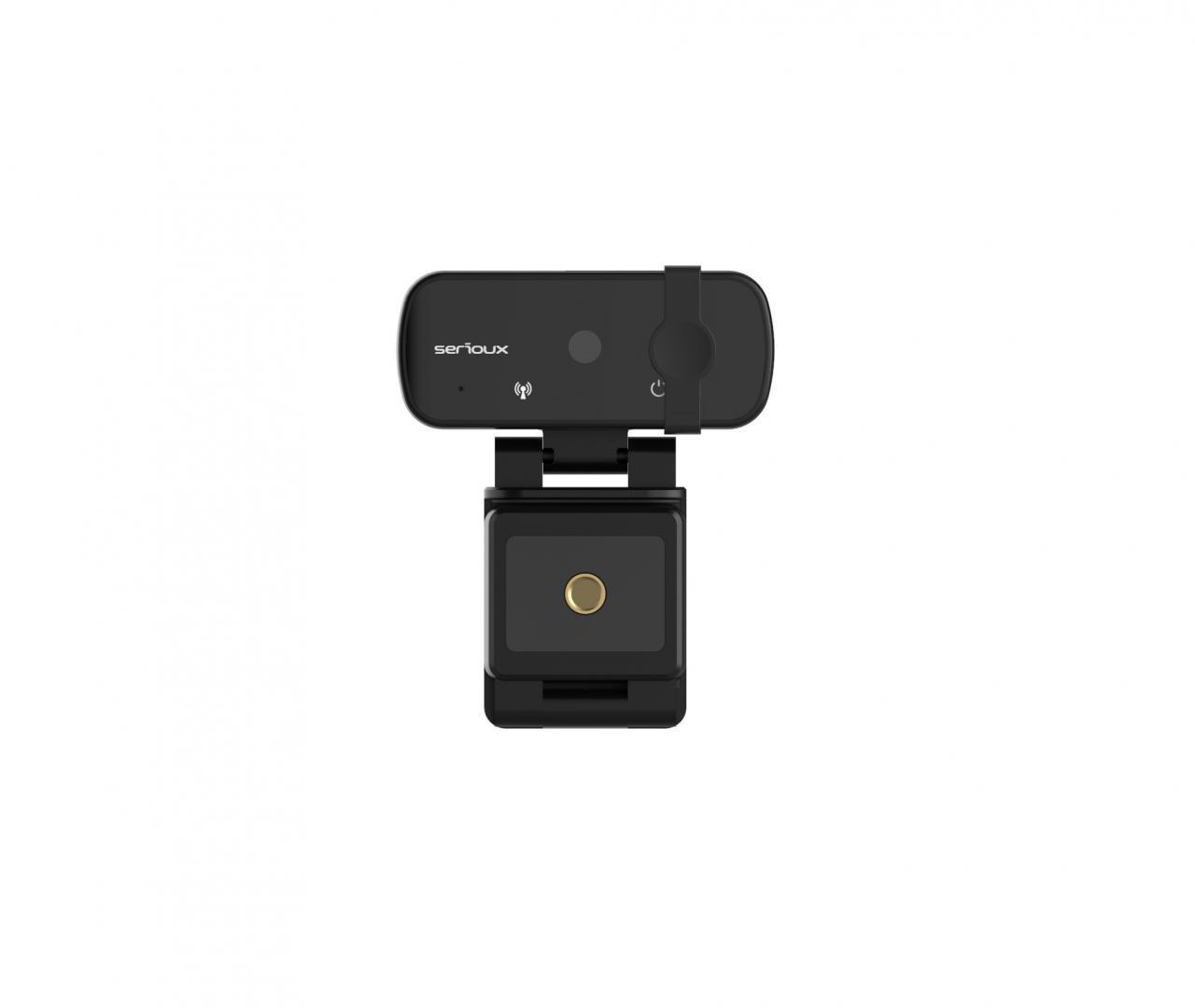 Camera web Serioux Full HD 1080p, chipset Sunplus2381+F23, microfon incorporat, rata cadre 30fps, rezoluție maximă video 1920*1080, format video MJPG / YUY2, senzor CMOS HD 2.0 Mega pixeli pentru imagine, tipul focalizării autofocus, control automat saturație, contrast, acutanță, echilibru de alb - imaginea 2