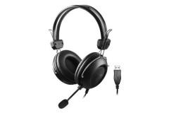 Casti A4Tech HU-35 Stereo, USB, negru