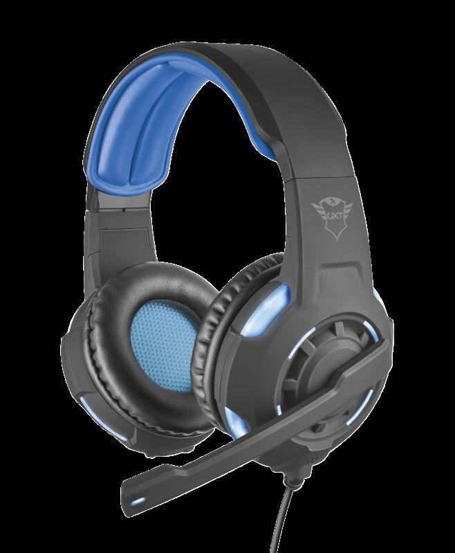 Casti cu microfon GXT 350 Radius 7.1 Surround Gaming, negru - imaginea 1