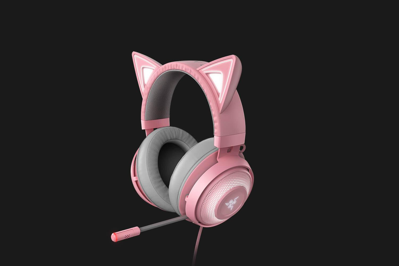 Casti cu microfon Razer Kraken Kitty Ed. Quartz USB 7.1 Surround Sound, negru - imaginea 3