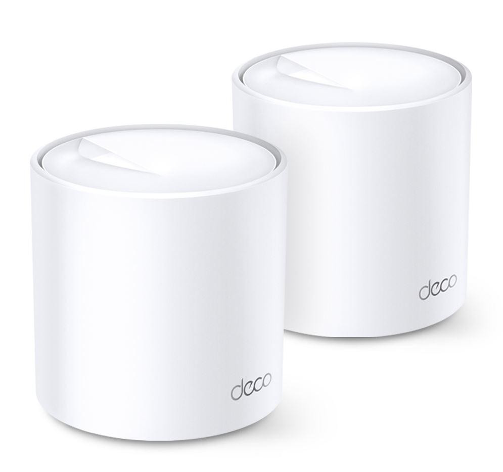 TP-Link AX1800 whole home mesh Wi-Fi 6 System, Deco X20(2-pack); Wireless Standards: IEEE 802.11a/n/ac/ax 5GHz, IEEE 802.11b/g/n/ax 2.4GHz, Signal Rate: 575 Mbps on 2.4GHz, 1200 Mbps on 5GHz, 1024QAM on 2.4GHz and 5GHz, 2 X 10/100/1000 Mbps RJ45 ports, Working Mode: Router, Access Point, 4 internal - imaginea 1
