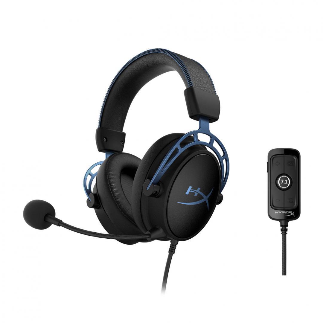 Casti cu microfon Kingston HyperX Cloud Alpha S, albastru - imaginea 1