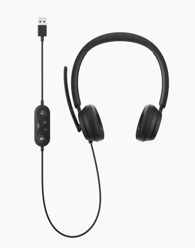Casti cu microfon MICROSOFT MODERN USB, negru - imaginea 1