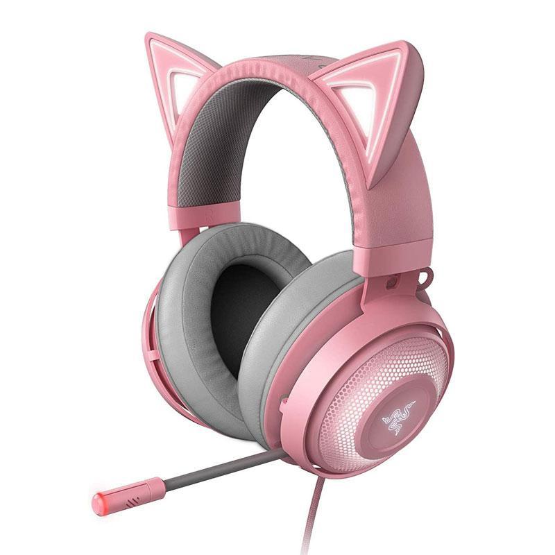 Casti cu microfon Razer Kraken Kitty Ed. Quartz USB 7.1 Surround Sound, negru - imaginea 1