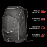 """Rucsac Trust GXT 1255 Outlaw Gaming Backpack 15.6"""" Black - imaginea 2"""