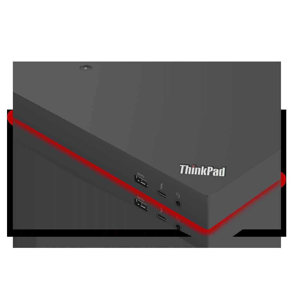 Docking Station Lenovo ThinkPad Thunderbolt 3 Workstation Dock Gen 2, Porturi: 2 x DisplayPort, 2 x HDMI, 1 x Thunderbolt 3 DownStream Port (video/data), 5 x USB 3.1 gen 2, 1 x Gigabit Ethernet, 1 x Kensington Lock Slot, 1 x 3.5 mm Stereo/Microphone Combo Port, 3 x max external monitorsMaximum - imaginea 2