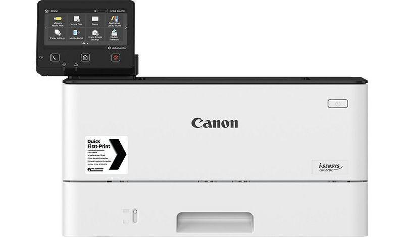 Imprimanta laser mono Canon LBP226DW, dimensiune A4, duplex, viteza max38ppm, rezolutie 600 X 600dpi, imprimare securizata, processor dual core800Mhz, memorie 1GB RAM, alimentare hartie 250 coli, limbaje deprintare: UFRII, PCL 5e4, PCL6, Adobe® PostScript, volum de printare max80000 pagini/luna - imaginea 1