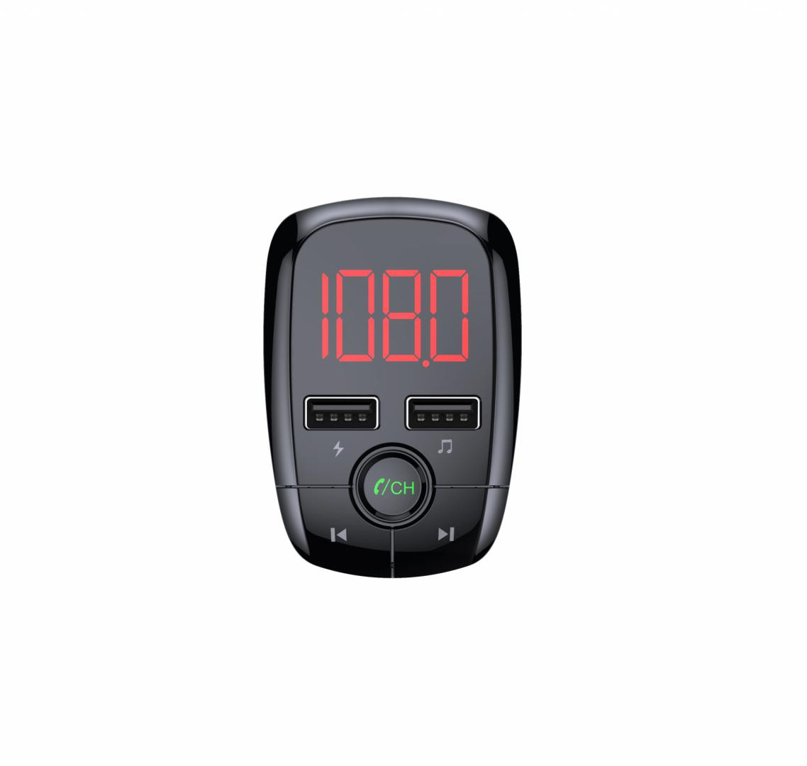 Modulator FM Serioux ABFM50, Bluetooth 5.0 , raza actiune de până la 5 m, voltaj intrare: 1x DC 12V/24V ,2 porturi USB: 1x USB DC5V 2.4A Max 1 x USB audio (pana la 32 GB), slot MicroSD (pana la 32 GB), format muzica: MP3/WMA/WAV, frecvența FM: 87.5MHz - 108.0MHZ, microfon incorporat , functii - imaginea 6