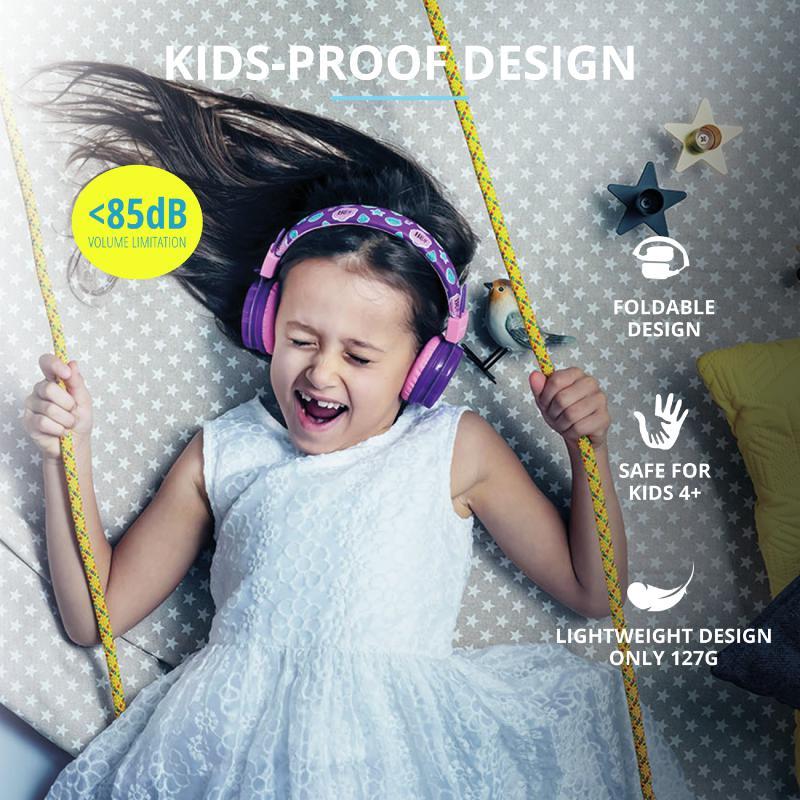 Casti cu microfon Trust Comi, Wireless Kids, purple - imaginea 9