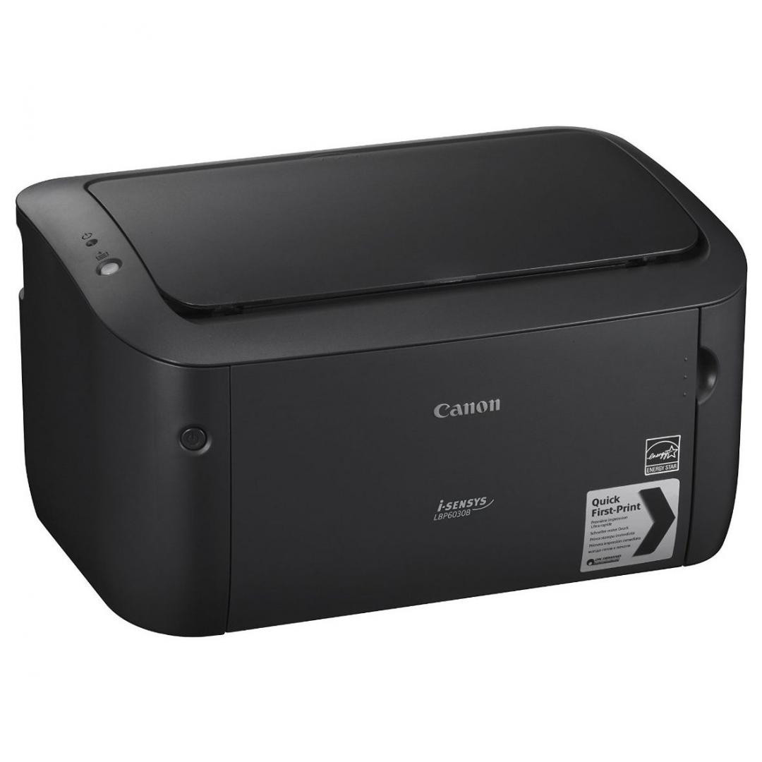 Imprimanta laser mono Canon LBP6030B, bundle, 2x CRG725 incluse in pachet, ( capacitate totala de printare tonere starter + 2x CRG725 3900 pagini) dimensiune A4, viteza max 18ppm, rezolutie 600x600dpi, memorie 32MB, alimentare hartie 150 coli, limbaj de printare: UFRII LT, volum de printare max 5000 - imaginea 1