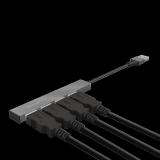 Adaptor Trust Halyx Aluminium 4-Port Mini USB Hub - imaginea 7
