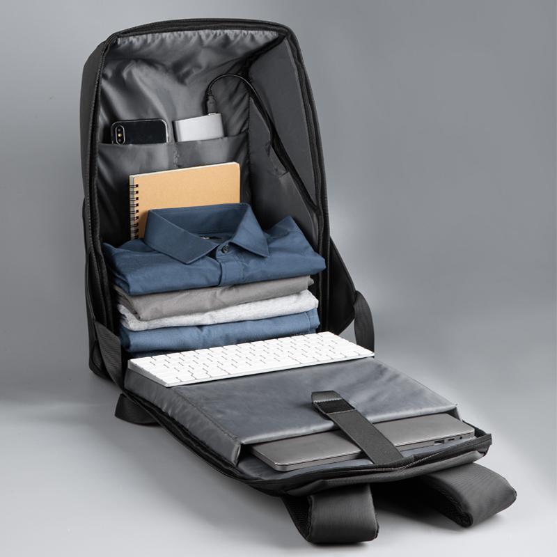 """Rucsac notebook Serioux, SMART TRAVEL ST9590, dimensiuni 31 x 16 x 46 cm, rezistent la apa, compartimente multiple, compartiment separat pentru notebook: max. 15.6"""", bretele ajustabile, port de încărcare USB, buzunar ascuns la spate, material poliester - imaginea 4"""