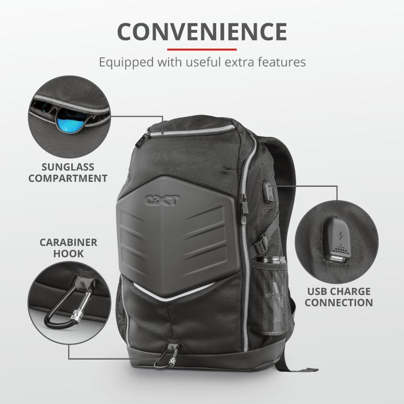 """Rucsac Trust GXT 1255 Outlaw Gaming Backpack 15.6"""" Black - imaginea 9"""