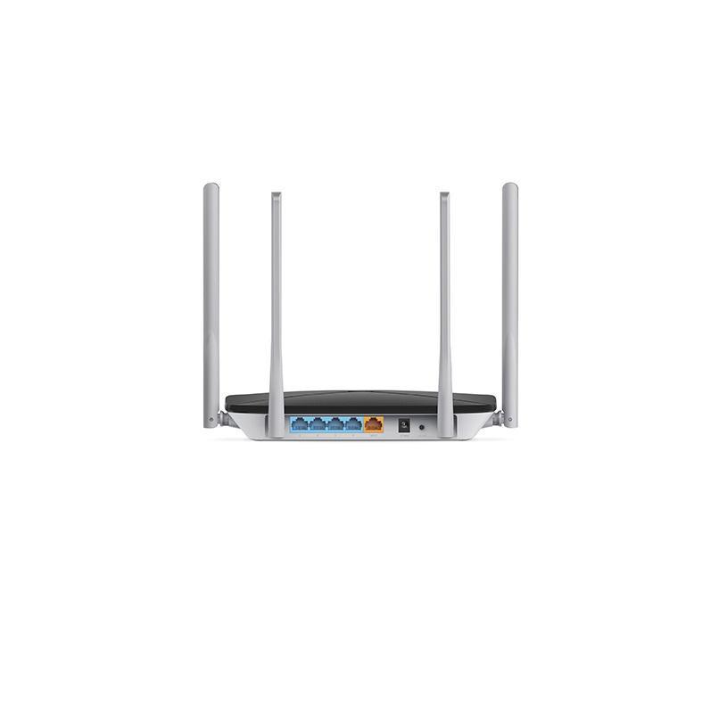 Router Wireless Mercusys Dual Band AC1200, AC12; Standarde Wireless: IEEE 802.11ac IEEE 802.11n IEEE 802.11g IEEE 802.11b IEEE 802.3 IEEE 802.3u; Frecvență: 2.390 - 2.4835GHz, 5.150 - 5.825GHz; 4x antene de 5dBi omnidirecționale; 4x porturi LAN 10/100Mbps, 1x port WAN 10/100Mbps; Alimentare - imaginea 2