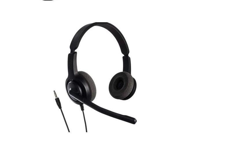 Casti cu microfon Axtel Voice PC28 duo NC, call center, negru - imaginea 1