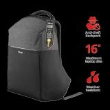 """Rucsac Trust Nox Anti-theft Backpack 16"""" Black - imaginea 2"""