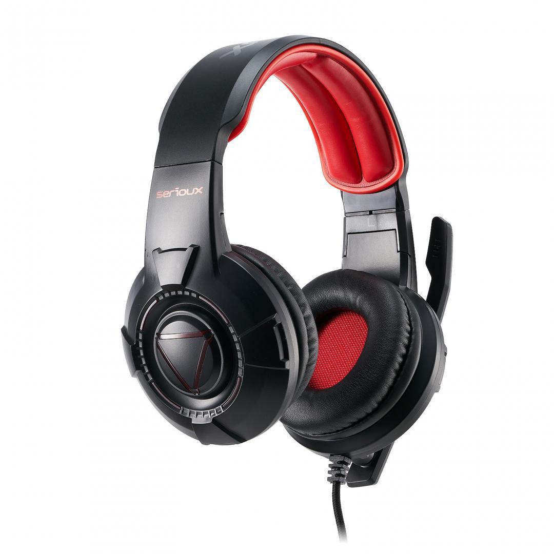 Casti cu microfon X by Serioux, Gaming, RUARI, difuzor: 40mm, impedanță 32 Ω, sensibilitate 118DB / 1KHZ, interval de frecvență 20 Hz-20 kHz, THD <= 1, putere nominală 15mW ,putere maxima 30mW,dimensiunea microfonului 6,0 × 2,7 mm, sensibilitate -42 ± 3dB,directivitate omni- direcțională, impedanță - imaginea 3