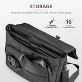 "Geanta GXT1270 Bullet Messenger Bag 15.6"" Black - imaginea 3"