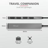 Adaptor Trust Halyx Aluminium 4-Port Mini USB Hub - imaginea 5