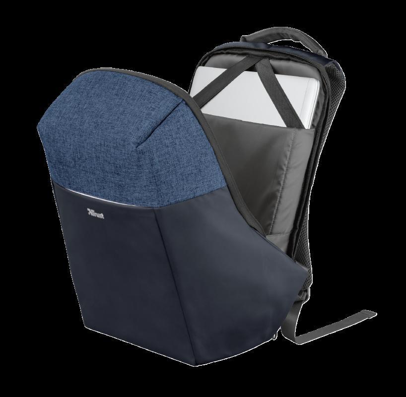 "Rucsac Trust Nox Anti-theft Backpack 16"" Blue - imaginea 5"