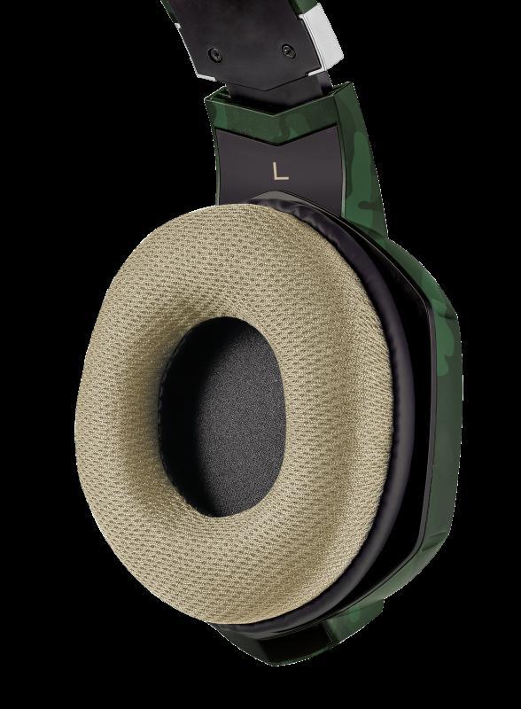 Casti cu microfon Trust GXT 322C Carus Gaming Headset, jungle camo - imaginea 5