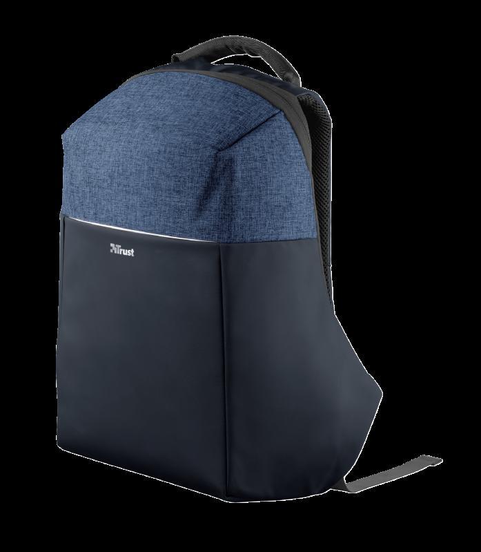 "Rucsac Trust Nox Anti-theft Backpack 16"" Blue - imaginea 1"