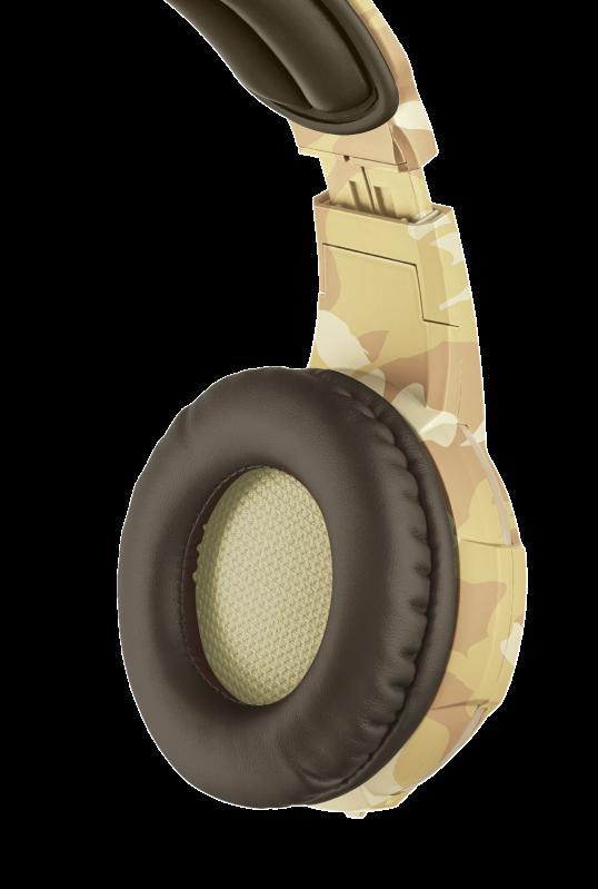 Casti cu microfon Trust GXT 310D Radius Gaming Headset, desert camo - imaginea 5
