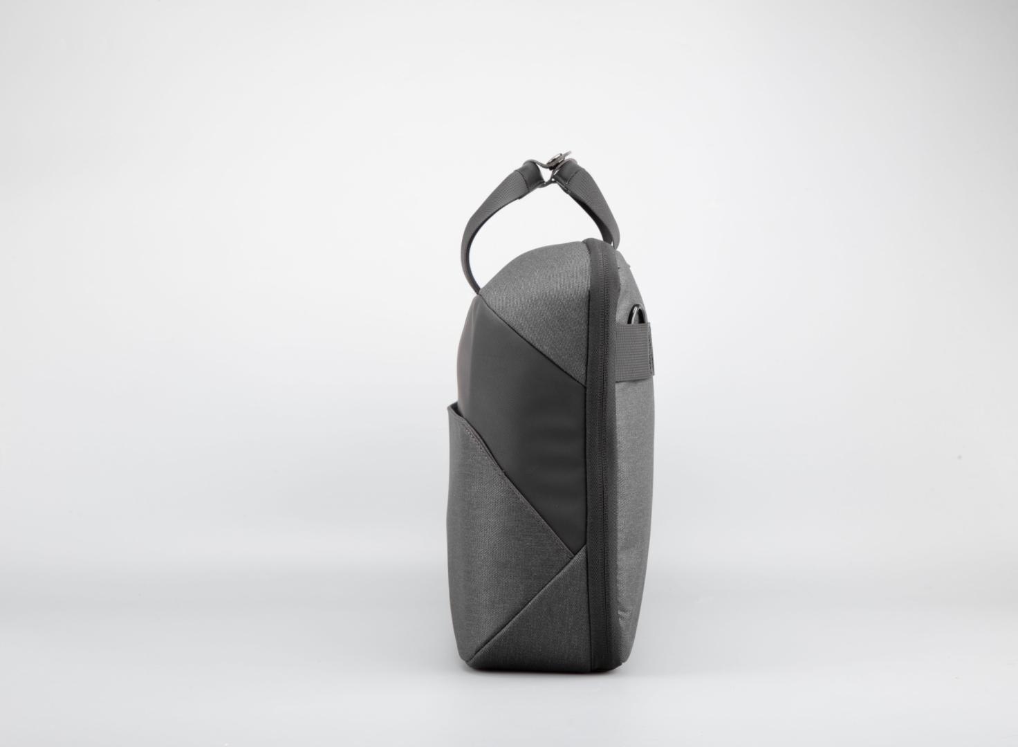 """Geanta notebook Serioux, SMART TRAVEL ST9610, dimensiuni 43 x 11 x 30 cm, rezistent la apa, compartimente multiple, compartimet laptop pana la 15.6"""", bretea spate pentru prindere troller, curea de umar ajustabila, material poliester - imaginea 3"""