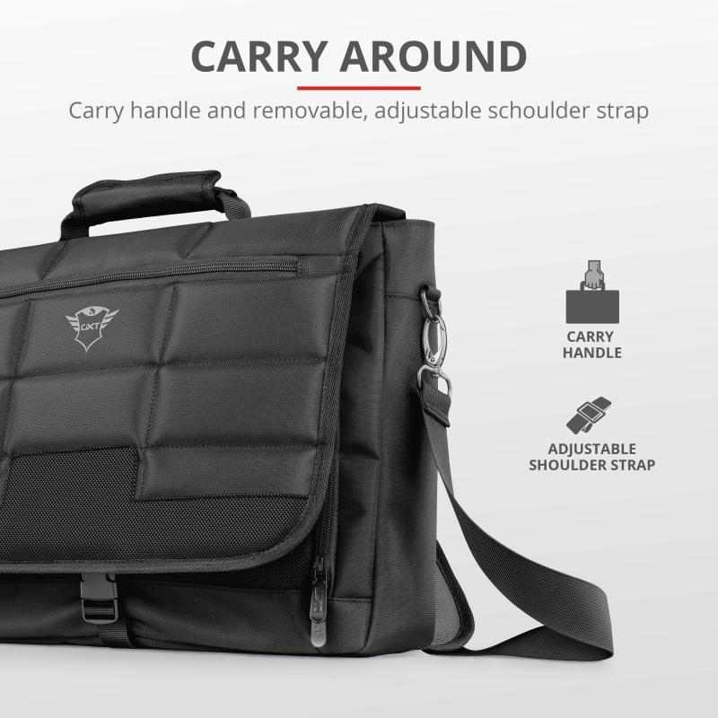 "Geanta GXT1270 Bullet Messenger Bag 15.6"" Black - imaginea 2"