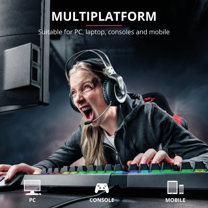 Casti cu microfon Trust GXT 430 Ironn Gaming, negru - imaginea 8